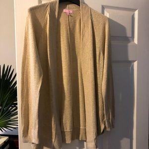 Lilly Pulitzer Micaila sweater cardigan gold sz SM